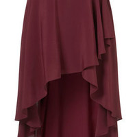 Oxblood Wrap Front Calf Skirt - Sale  - Sale & Offers