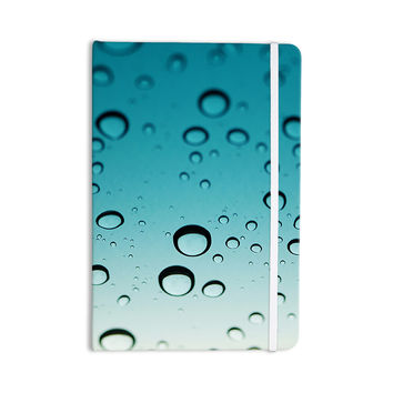 "Kristi Jackson ""Blue Rain"" Teal Ombre Everything Notebook"