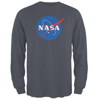 Chenier NASA Logo Mens Long Sleeve T Shirt