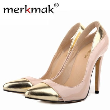 Classic Sexy Pointed Toe High Heels Women Pumps Shoes New 2017 Spring Brand Design Wedding Shoes Pumps 23 Colors Big Size 35-42
