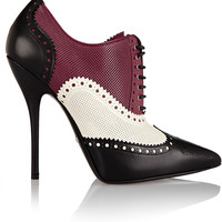 Gucci - Color-block textured-leather ankle boots