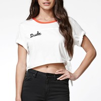 Some Days Lovin Hi Rollers Knit T-Shirt - Womens Tee - White