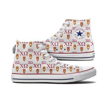 Chi Omega Converse High Tops