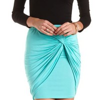 Twisted Knot High-Low Tulip Skirt by Charlotte Russe