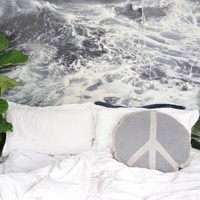 PEACE OUT CIRCLE CUSHION - STORM GREY | HOMEWARES | KAWAIIAN LION - Hunters and Gatherers