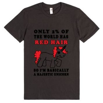 red hair unicorn basic tee-Unisex Smoke T-Shirt
