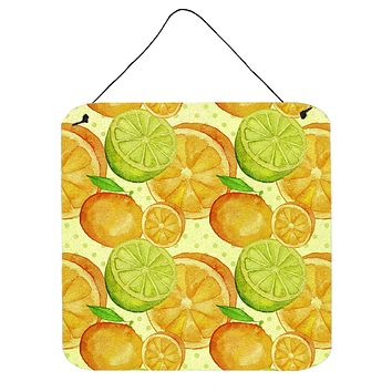 Watercolor Limes and Oranges Citrus Wall or Door Hanging Prints BB7517DS66