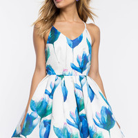 Tulip Asymmetrical Poof Dress
