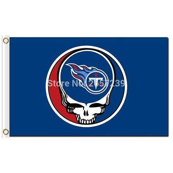 Tennessee Titans Stealing Your Face Flag 3x5FT NFL banner 100D 150X90CM Polyester brass grommets custom66,free shipping