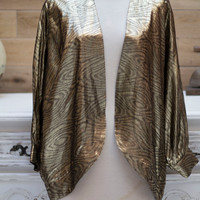 Vintage 1980's Oversized Top in Gold