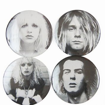 The Pulp Girls — DOOMED ROMANCE BUTTONS