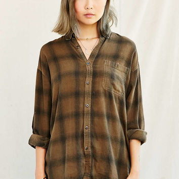 Urban Renewal Recycled Overdyed Flannel - Urban Outfitters