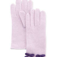 Cashmere Bow Glove, Lilac/Purple