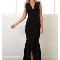 Piece Of My Heart maxi dress in black