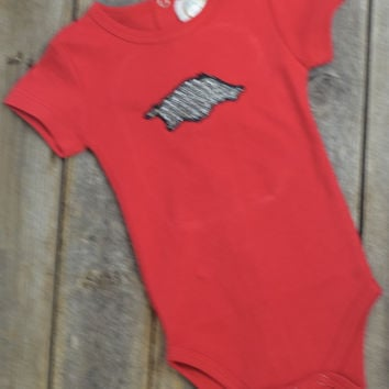 Razorback Onsie by Mandy Lou {Red}