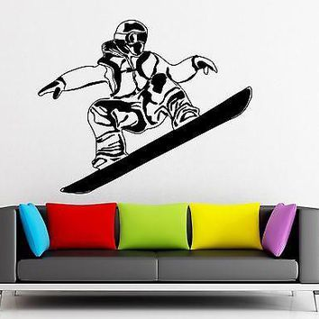 Wall Sticker Vinyl Decal Snowboard Extreme Sports Snow Winter Athlete Unique Gift (ig1869)