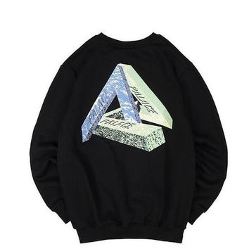 new design Fashion palace Printed stone statue triangle Hip Hop Hoodies kanye west yeezus Lovers clothing