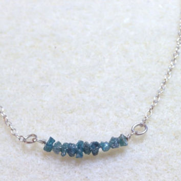 """Raw Diamond Beaded """"Completion"""" Necklace"""