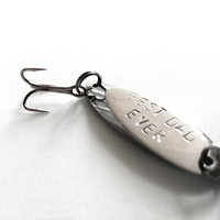 Fathers Day fishing lure - fisherman gift for man - best dad ever