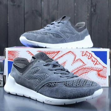 One-nice™ NEW BALANCE Women Men Casual Running Sport Shoes Sneakers Grey I-A0-YFY