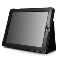 IPAD 2 Leather Case With Stand for Apple IPAD 2 (Black) Fits All Ipad2 Model