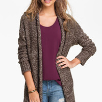 Love By Design Oversized Mélange Cardigan (Juniors) | Nordstrom