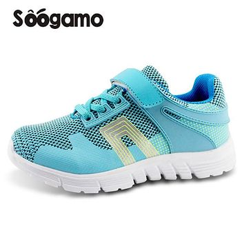 Student school shoes Kids sneakers boys and girls casual shoes breathable Hook loop shoes anti slippery quality shoes