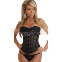 2012 New Style For Summer Underbust Cotton Corset Black [TQL120324040] - £21.59 :