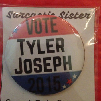 Vote Tyler 2.5 Inch Pinback Button