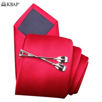 Tie Bar Clips for Men Necktie Bar Clasp Tie Clip Silver Color Spoon Shape Favor Gifts