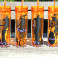 witch tumbler, cute witch cup, halloween tumbler, skinny tumbler, halloween party cups, halloween gift, acrylic tumbler, holiday cups, sexy