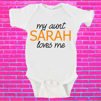 My Aunt Loves Me Custom Name Gerber Onesuit ®