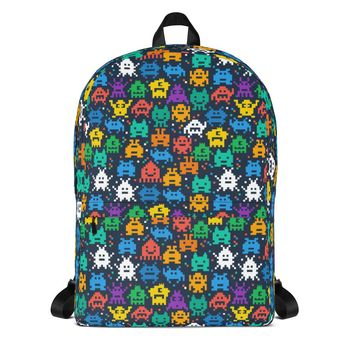 Pixel Monsters All-Over Unisex Backpack
