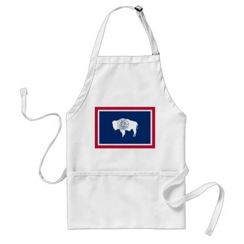 Apron with Flag of Wyoming, U.S.A.