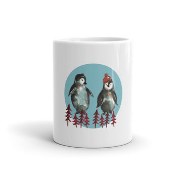 Pretty Winter Penguins Mug
