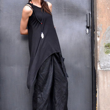 NEW Black Loose Racer Back Tank Top / Soft Casual Sport Wear ? Extravagant Top