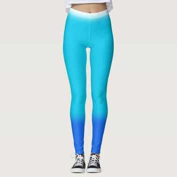 Ombre Blues Leggings