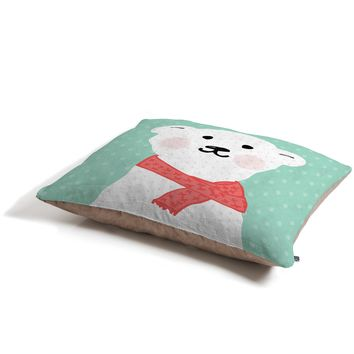 Allyson Johnson Cozy Polar Bear Pet Bed