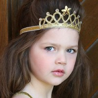 Little Girls Princess Headbands Cute Hairband Kids Crown Headband Gold and silver Hair Band Accessories 1pc HB122