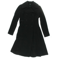 Lauren Ralph Lauren Womens Wool Double-Breasted Pea Coat
