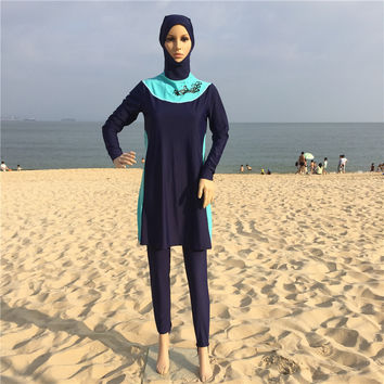 Modest Swimsuit for Muslim Women Muslim Swimwear Hajib Islamic Swimsuit Plus Size Girls Women Swimwear
