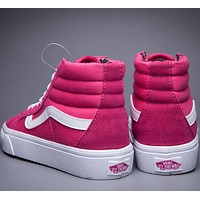 Vans  Pink dust leopard high Gang shoes