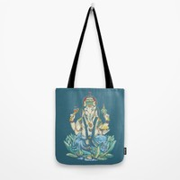 Ganesh  Tote Bag by Kristy Patterson Design