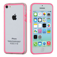 MyBumper TPU Side Cover Case for Apple iPhone 5C - Pink/Clear