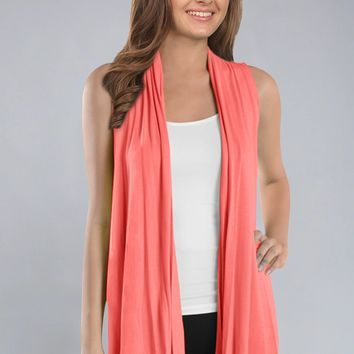 SLEEVELESS COVER UP CARDIGAN