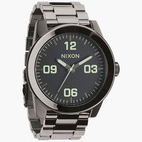 Nixon The Corporal Ss Watch Polished Gunmetal/Lum One Size For Men 24406711201