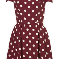 Polka Dot Flippy Dress