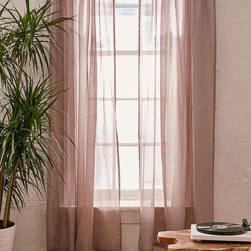 Metallic Thread Grid Curtain - Urban Outfitters