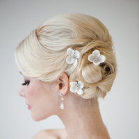 Silk Flower Hairpins Bridal Hairpins Weddiing