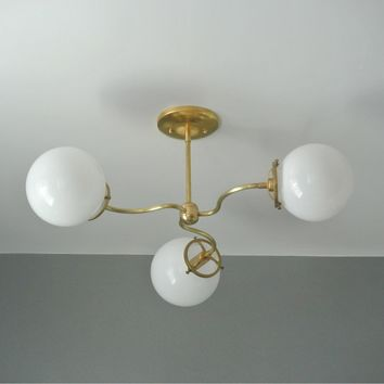 Vintage Style Three Arm Chandelier